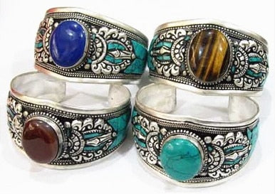 Amulet Wide Open Cuff Bracelet - deities