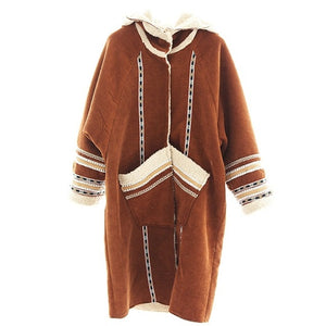 Women's Faux Fur Vintage Overcoat - deities