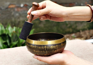 HANDMADE NEPALESE SINGING BOWL - deities