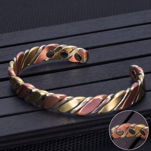 TRI-COLOR COPPER HEALING MAGNETIC BRACELET - deities