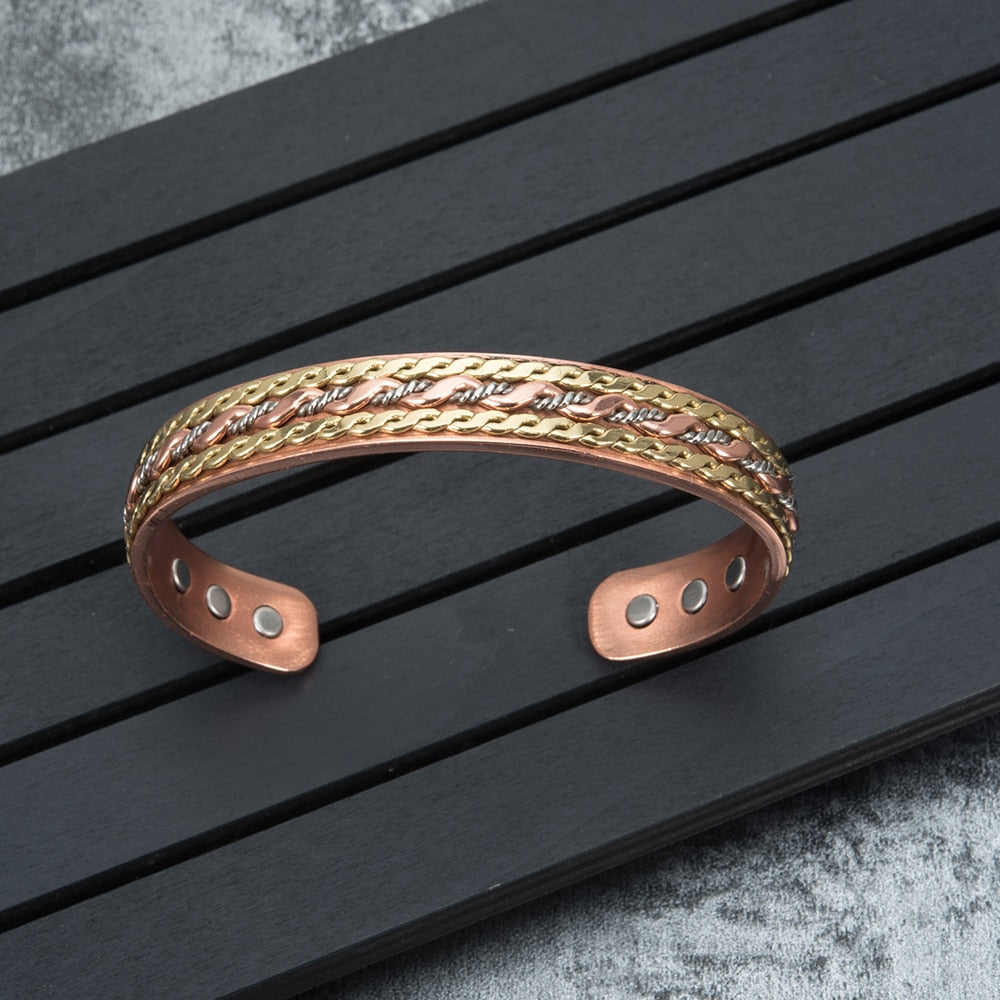 TWISTED COPPER HEALING MAGNETIC BRACELET - deities