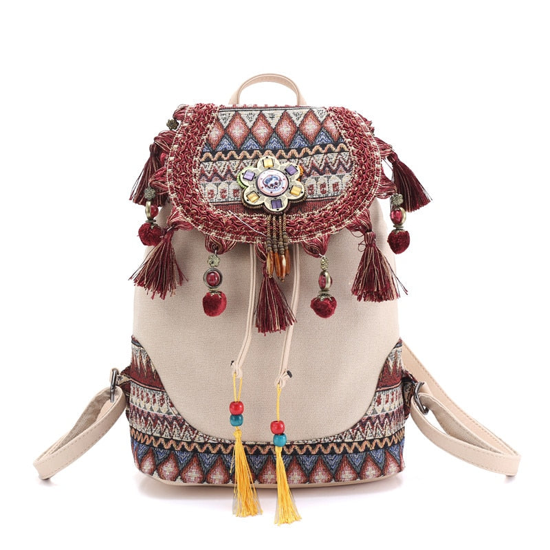 HIPPIE BOHO VINTAGE BACKPACK - deities