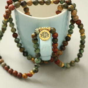 RED PICASSO & AFRICAN TURQUOISE MALA - deities