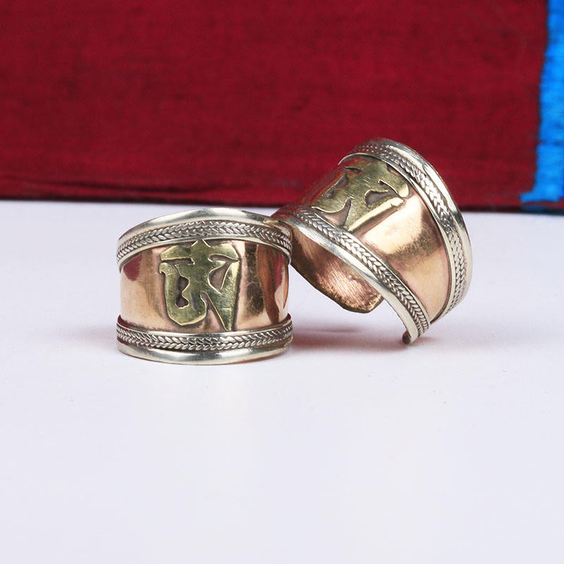 ANTIQUE OM SYMBOL RING - deities