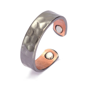 TEXTURED COPPER HEALING MAGNETIC RING - deities