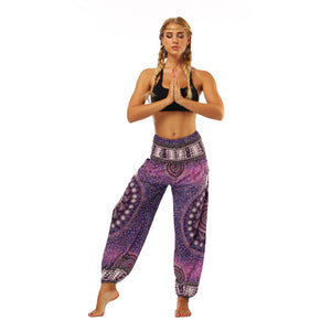 DEEP PURPLE MANDALA PANTS - deities