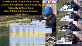 MILITECH's 10 x 12 RF2 0101.07 Multicurve Alumina & PE Plate Durability Testing By Buffman Range