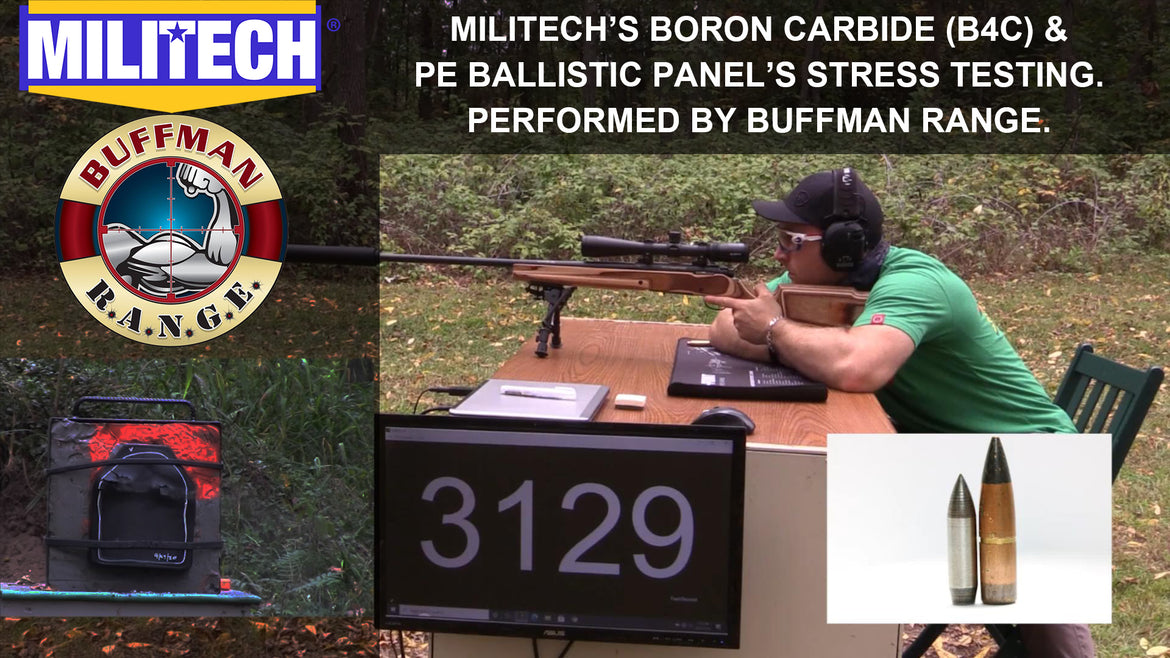 Lightest NIJ Level IV Armor? Militech Boron Carbide (B4C) Tested By Buffman Range
