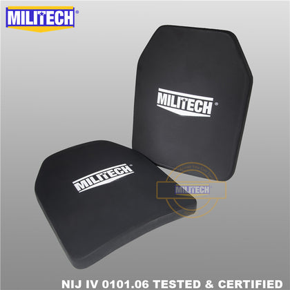 MILITECH® NIJ IV 0101.06 / RF3 0101.07 Shooters Cut Ballistic Panels Pair Set