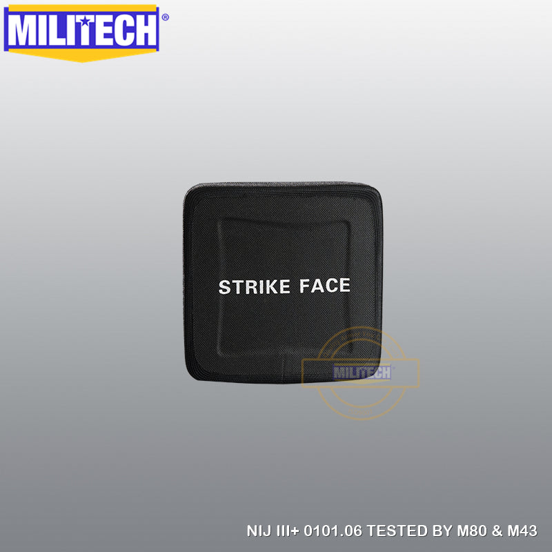 MILITECH® NIJ III+ 0101.06 / RF1 0101.07 Ultra Light Weight UHMWPE SAPI Ballistic Panels Pair Set
