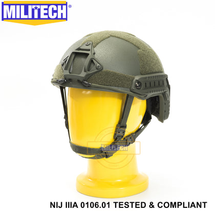 Militech® High Cut NIJ IIIA Ballistic Helmet With Advanced Impact Liner