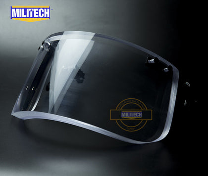 MILITECH® NIJ IIIA Rated Ballistic Visor Face Shield For Tactical Ballistic Helmets