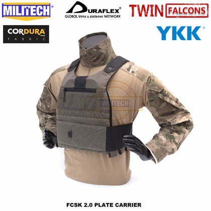 Twinfalcons FCSK 2.0 Delustering Tactical Plate Carrier Chestrig Loadout
