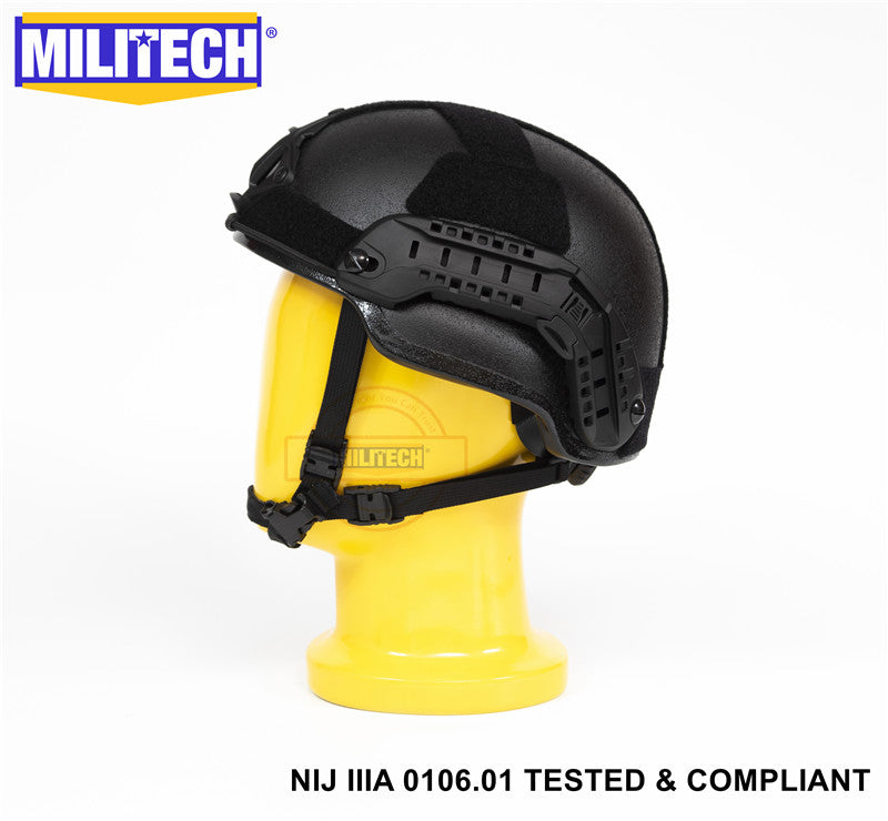 MILITECH® MID CUT NIJ IIIA BALLISTIC HELMET WITH ADVANCED IMPACT LINER