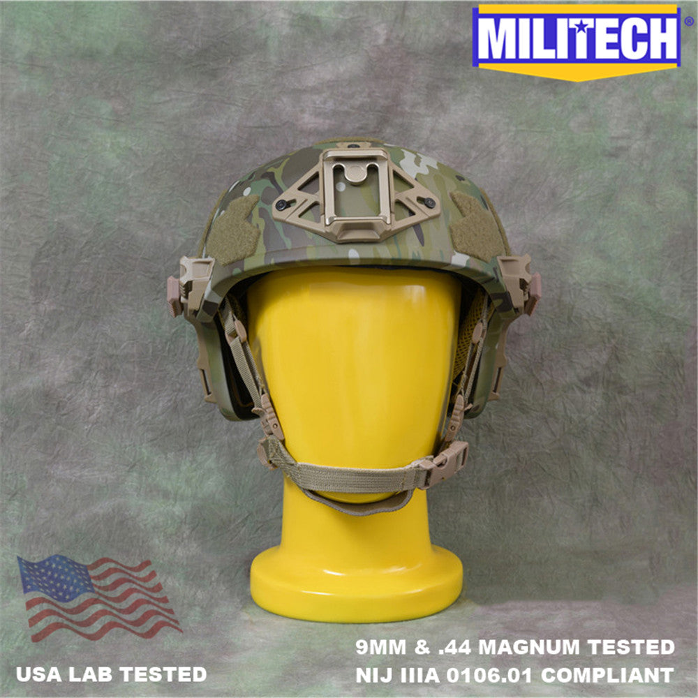 MILITECH® Wendy High Cut Tactical NIJ IIIA Ballistic Helmet With Dial Liner