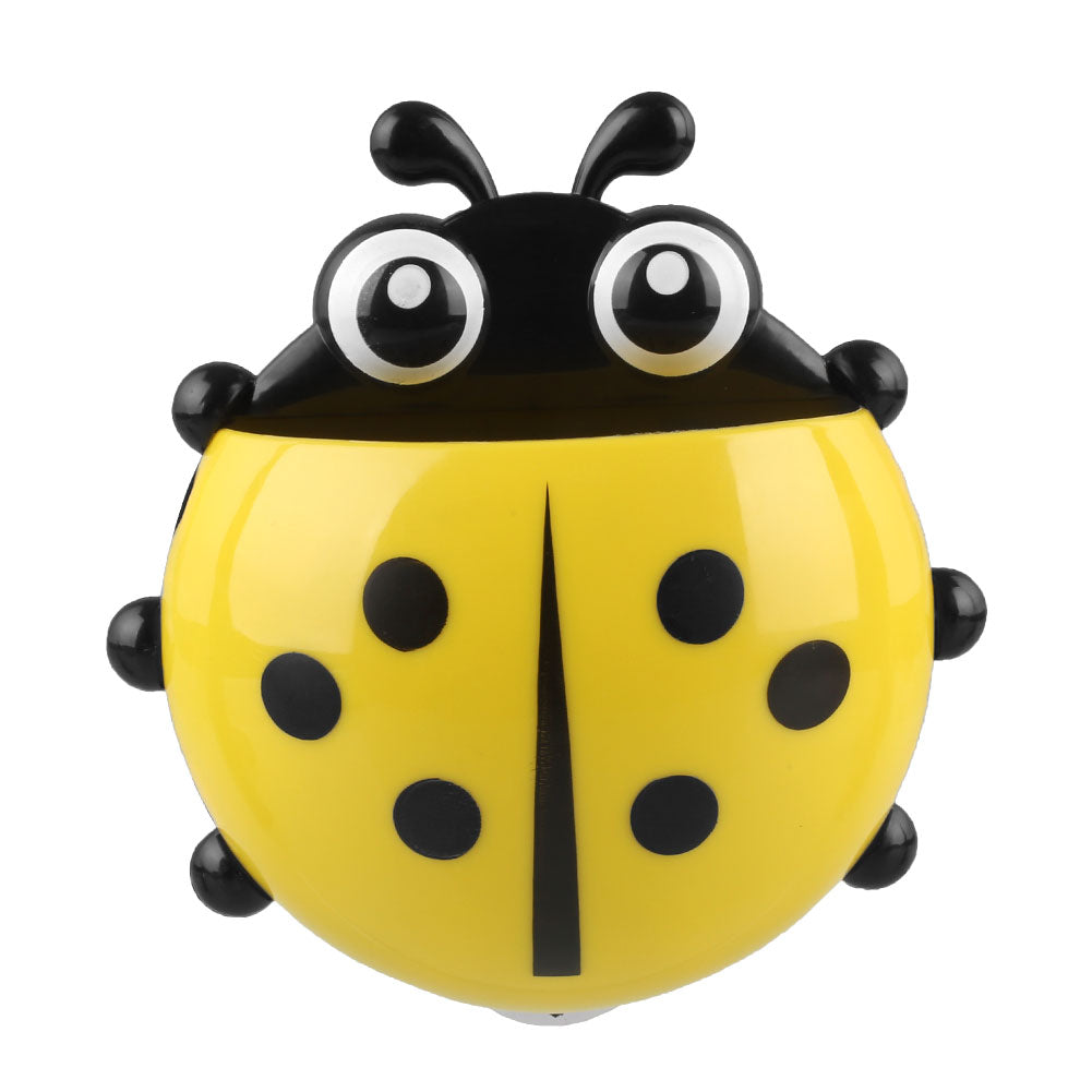 Cute Ladybug Cartoon Sucker Toothbrush Holder