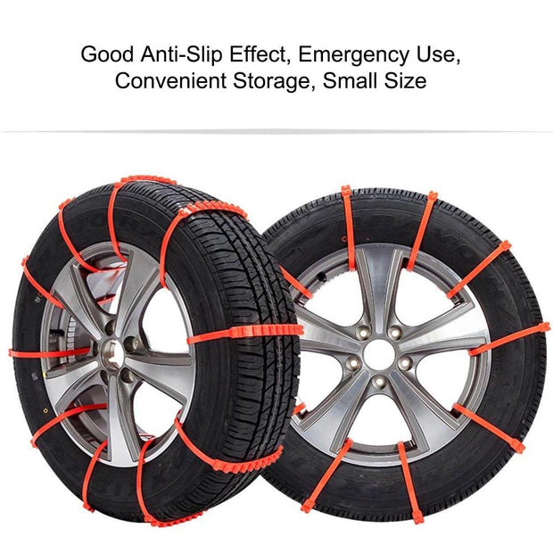 Universal Car Emergency Wheel Tire Snow Anti-skid Emergency Chain for Car Off road Vehicle SUV Winter Safety Driving: 10PCS