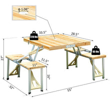 Load image into Gallery viewer, Camping Folding Wood Table