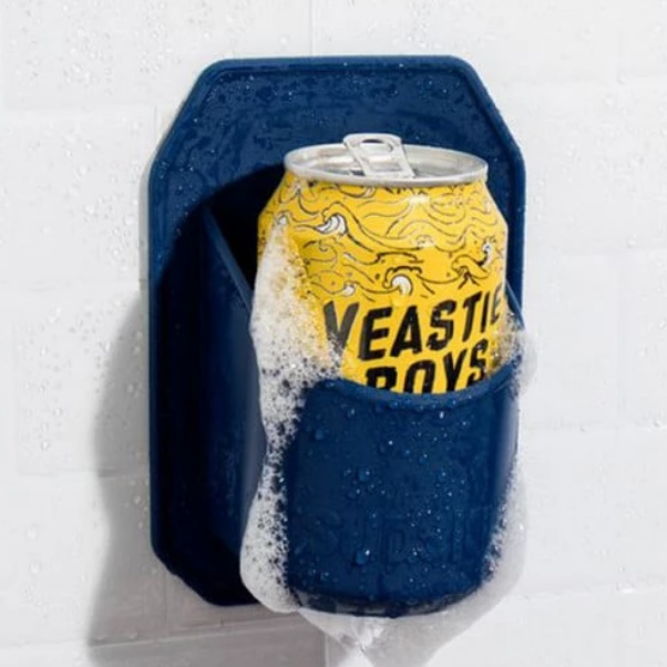 shower beer holder, shower, beer, can, tinnie, father's day, dad, gift