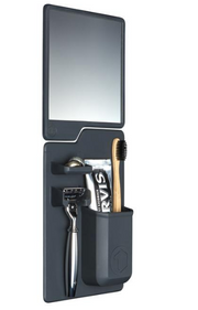 father's day, dad, gifts, shower mirror, shaving mirror, toothbrush holder, razor holder