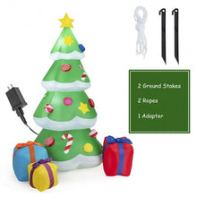 Load image into Gallery viewer, 7 ft Giant Inflatable Christmas Tree with 3 Gift Wrapped Boxes (LED Light)