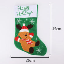 "Load image into Gallery viewer, 18""Christmas  Stockings Candy Bag Gift Socks Hanging Accessories (3 pack)"