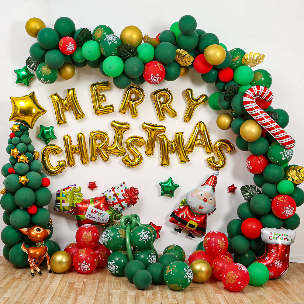 203 Pcs Merry Christmas Balloon Arch Garland Kit for 2020 Christmas