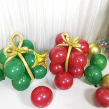 Load image into Gallery viewer, Christmas Balloon Garland Kit, Green and Red Balloon Arch