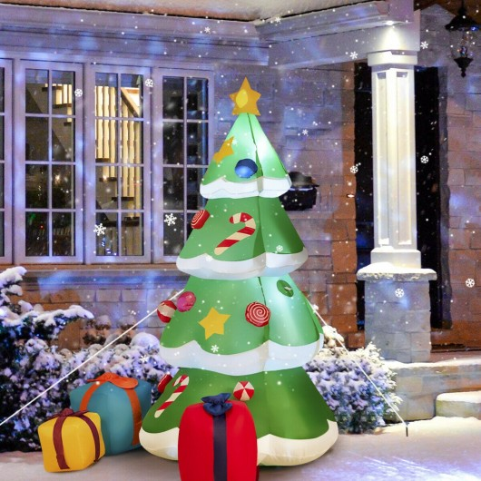 7 ft Giant Inflatable Christmas Tree with 3 Gift Wrapped Boxes (LED Light)
