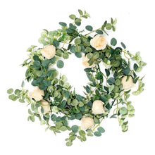 Load image into Gallery viewer, 6ft Hanging Silk Rose Vine with Light for Wedding Arch Garland Decor
