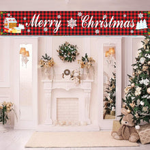 Load image into Gallery viewer, Merry Christmas Large Banner Hanging Sign for Home