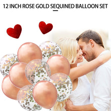 Load image into Gallery viewer, Rose Gold Metallic Confetti Glitter Filled Balloons-10pcs/30pcs/40pcs