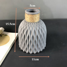 Load image into Gallery viewer, Origami Plastic Vase Imitation Ceramic Flower Vase