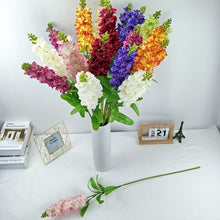Load image into Gallery viewer, Big Artificial Hyacinth Violet Flower Branch