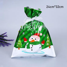 Load image into Gallery viewer, Drawstring Christmas Gift Bags with Ribbon Ties