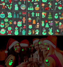 Load image into Gallery viewer, Christmas Luminous Tattoo Sticker