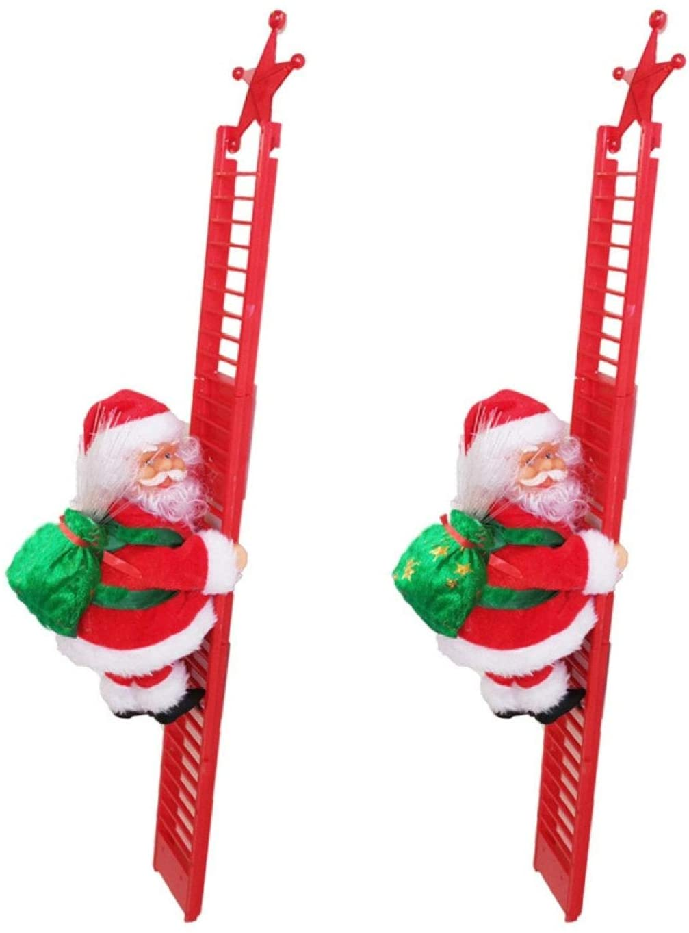 Christmas Tree Ornament Santa Climbing Ladder