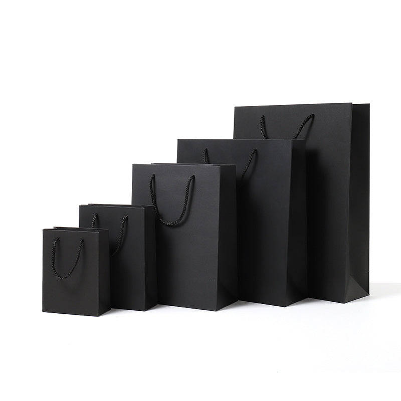 Premium Kraft Paper Handle Gift Package -Black
