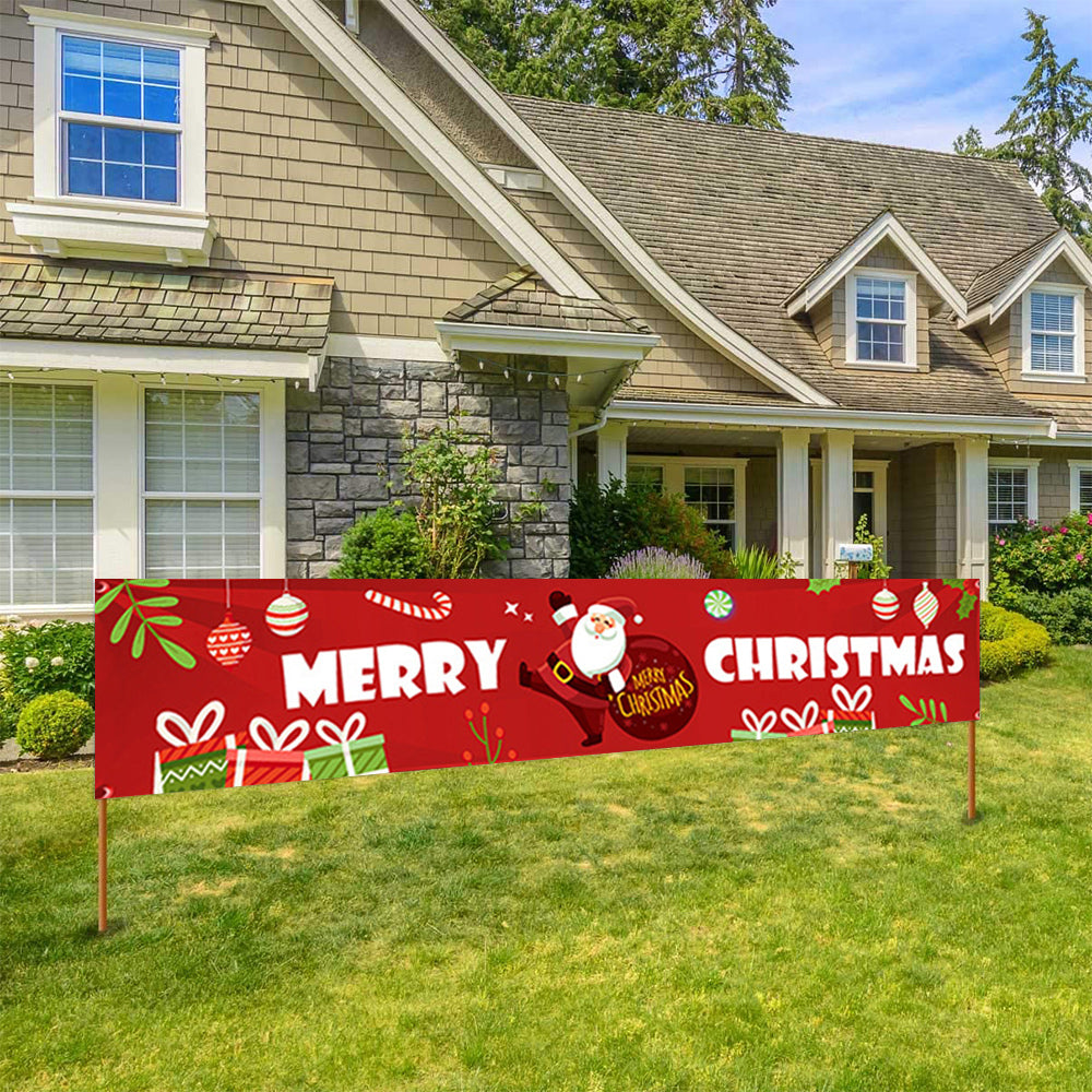 Merry Christmas Large Banner Hanging Sign for Home
