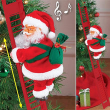 Load image into Gallery viewer, Christmas Tree Ornament Santa Climbing Ladder