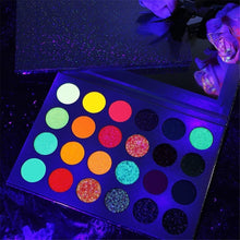 Load image into Gallery viewer, Euphoria Glow Palette Neon Glitter Eyeshadow Palette for Party (24 Colors)
