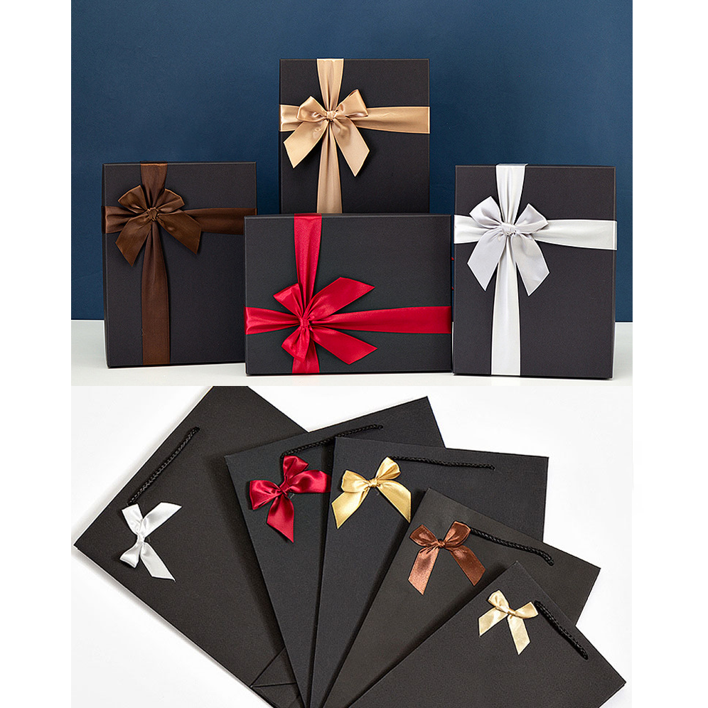 Rectangular Black Candy Paper Packaging Gift Box