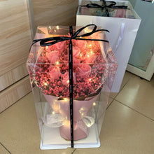 Load image into Gallery viewer, Rose and Gypsophila Flower Bouquet with Gift Box