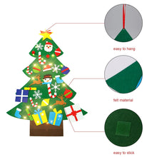 Load image into Gallery viewer, DIY Felt Christmas Tree Set with Ornaments for Kids