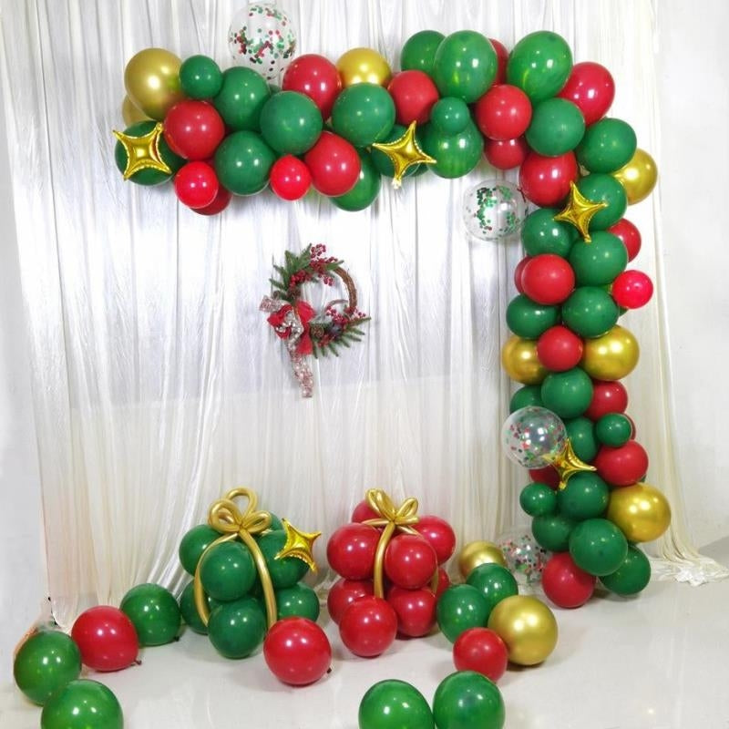 Christmas Balloon Garland Kit, Green and Red Balloon Arch