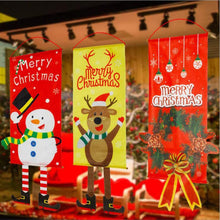 Load image into Gallery viewer, Christmas Flag Door Decor Hanging Cloth