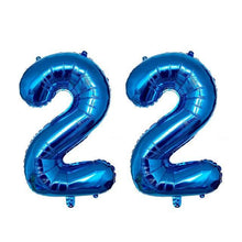 Load image into Gallery viewer, 22nd Year Birthday Balloon - 2 Pieces - 12 Inches