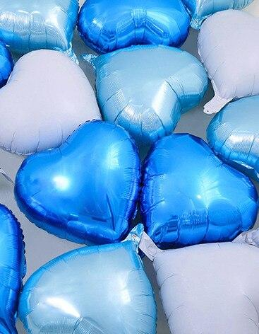 18 inch Heart Love Party Foil Balloons - 20 Pieces