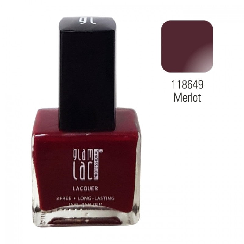 ! GlamLac Classic air curing Nail polish 15ml, MERLOT