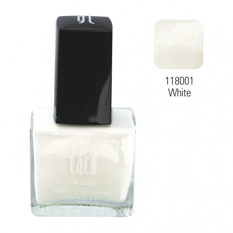 ! GlamLac Classic air curing Nail polish 15ml, WHITE